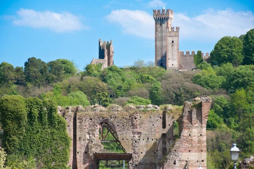 The Scaligeri Castle with the Visconti Bridge, Valeggio sul Mincio, Italy