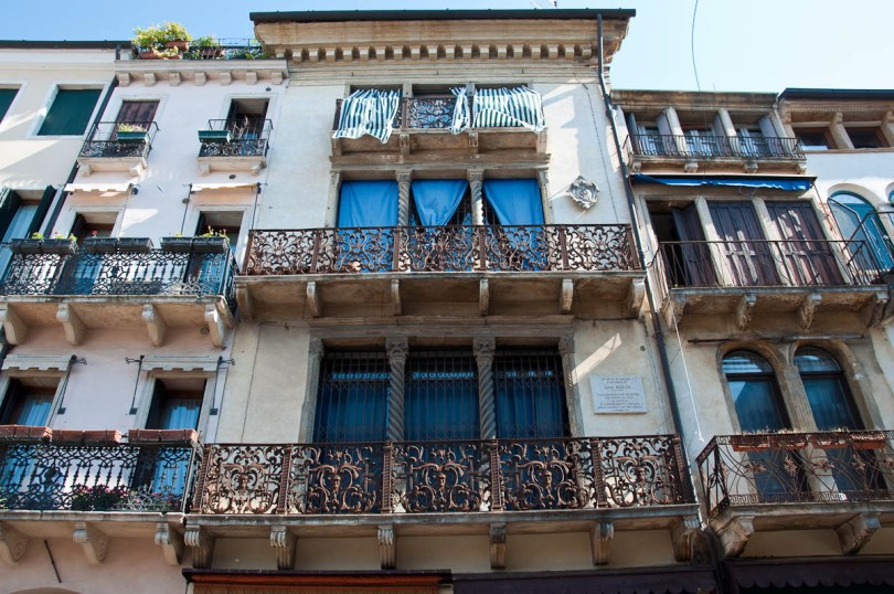 Buildings surrounding Piazza dei Signori, Padua, Italy - www.rossiwrites.com
