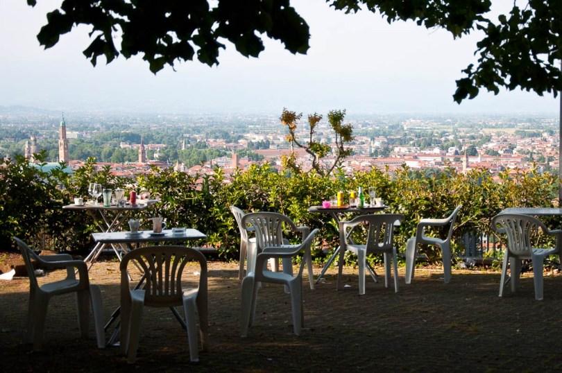Outside terrace, Bar Al Pellegrino, Monte Berico, Vicenza, Italy - www.rossiwrites.com
