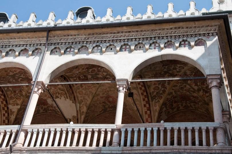 Outside view of the loggia of Palazzo della Ragione, Padua, Italy - www.rossiwrites.com