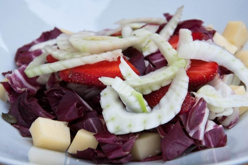 Strawberry, Radicchio and Fennel salad, Este, Veneto, Italy