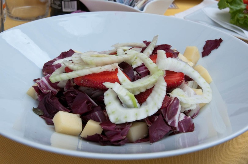Strawberry, Radicchio and Fennel salad, Este, Veneto, Italy