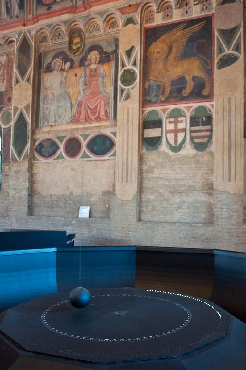 The Foucault's Pendulum, Palazzo della Ragione , Padua, Italy - www.rossiwrites.com