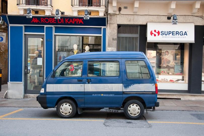 A tiny Piaggio van, Vicenza, Veneto, Italy