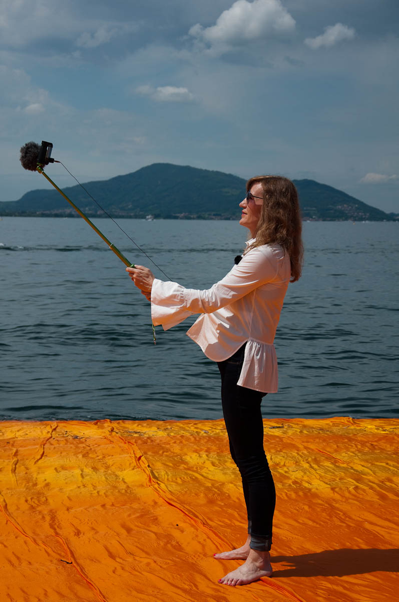 Christo's The Floating Piers, Taking a selfie, Lake Iseo, Italy - www.rossiwrites.com