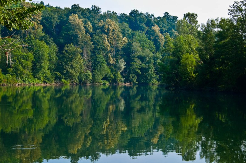 The river Kolpa, Big Berry glampsite, Bela Krajina, Slovenia - www.rossiwrites.com