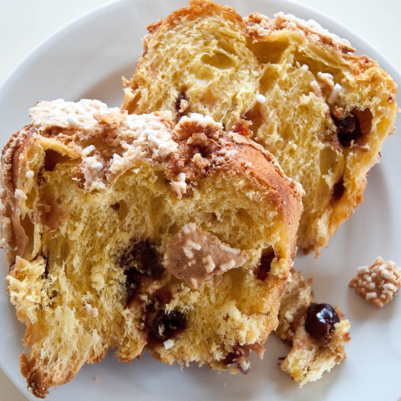 Thick slices of artisan cherry loaf, Marostica, Veneto, Italy - www.rossiwrites.com