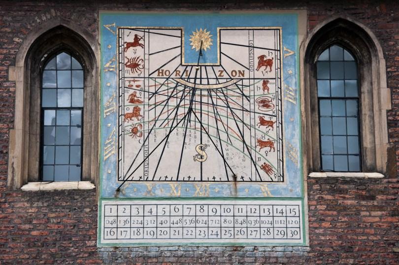 Astronomical clock, Queen's College, Cambridge, England - www.rossiwrites.com