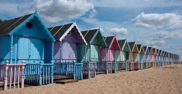 Beach huts, Mersea Island, Essex, England - www.rossiwrites.com
