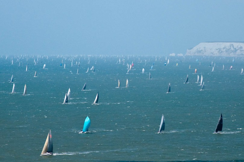 Hundreds of boats, Round the island race 2016, Isle of Wight, UK - www.rossiwrites.com