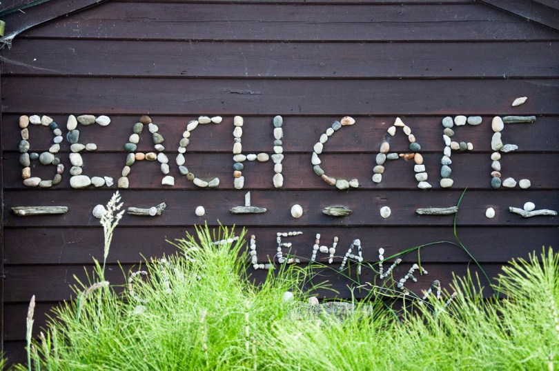 The beach cafe, Castlehaven Caravan Park, Isle of Wight, UK - www.rossiwrites.com