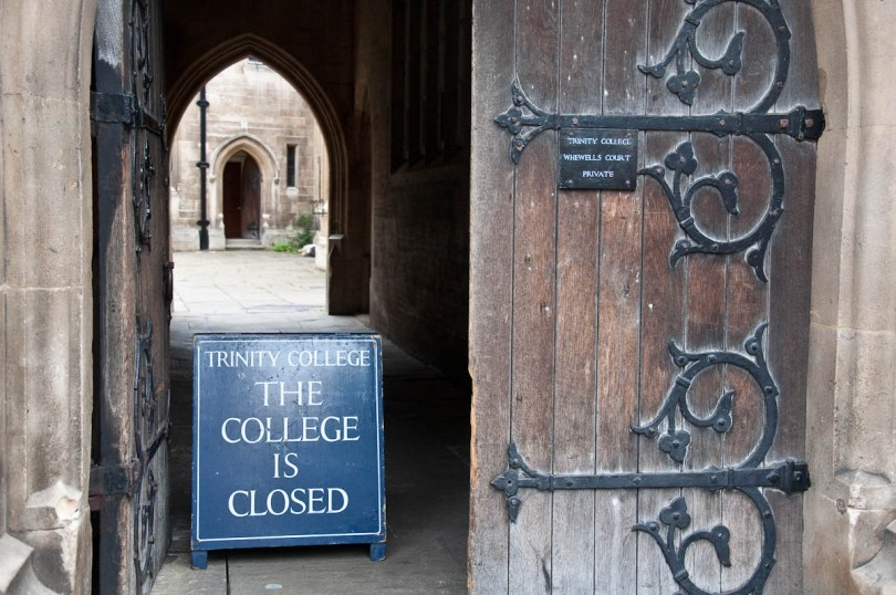 The entrance to Trinity College, Cambridge, England - www.rossiwrites.com