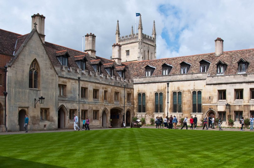 The splendid lawn, Pembroke College, Cambridge, England - www.rossiwrites.com