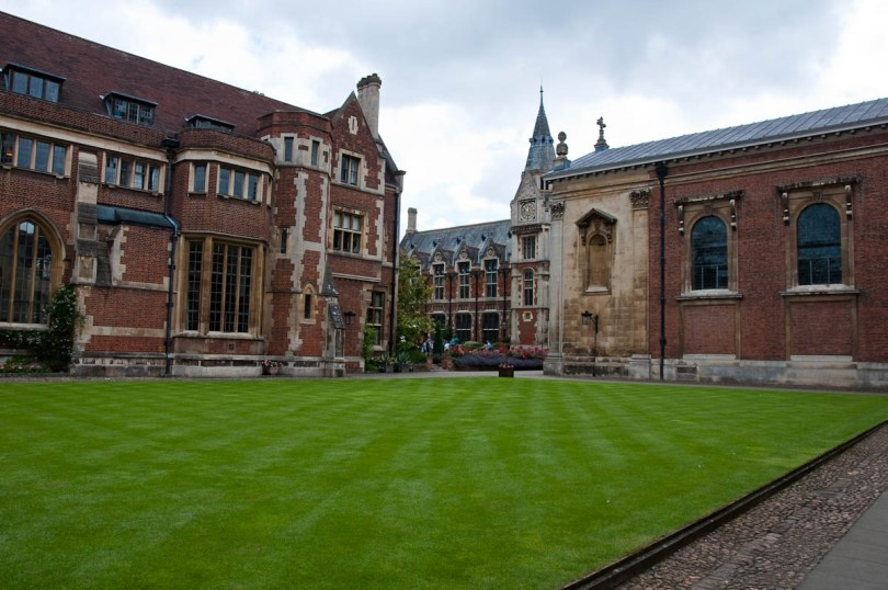 The splendid lawn, Pembroke College, Cambridge, England - www.rossiwrites.com