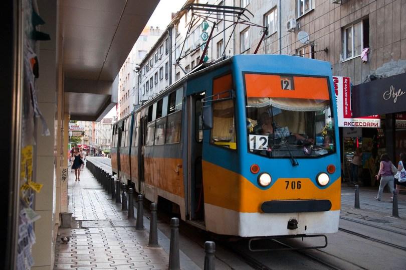Local tram, Sofia, Bulgaria - www.rossiwrites.com