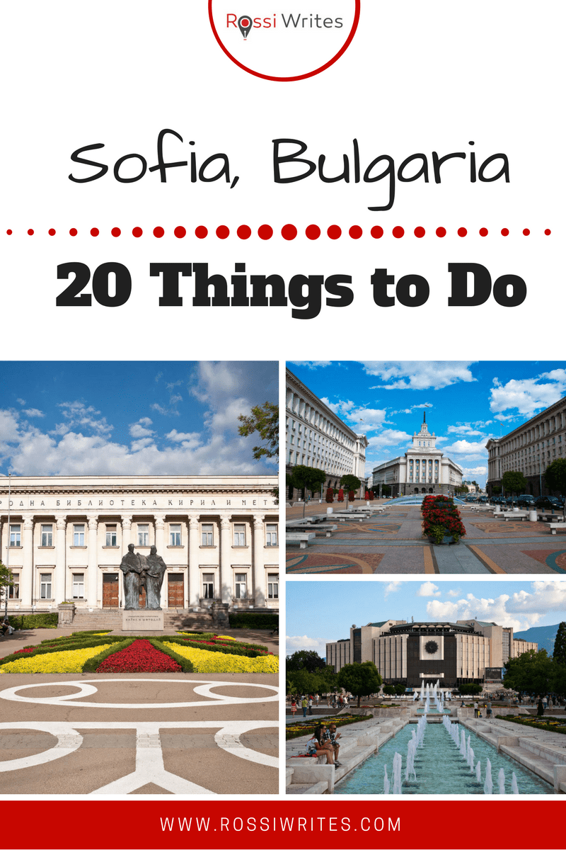 Pin Me - 20 Things to Do in Sofia Bulgaria