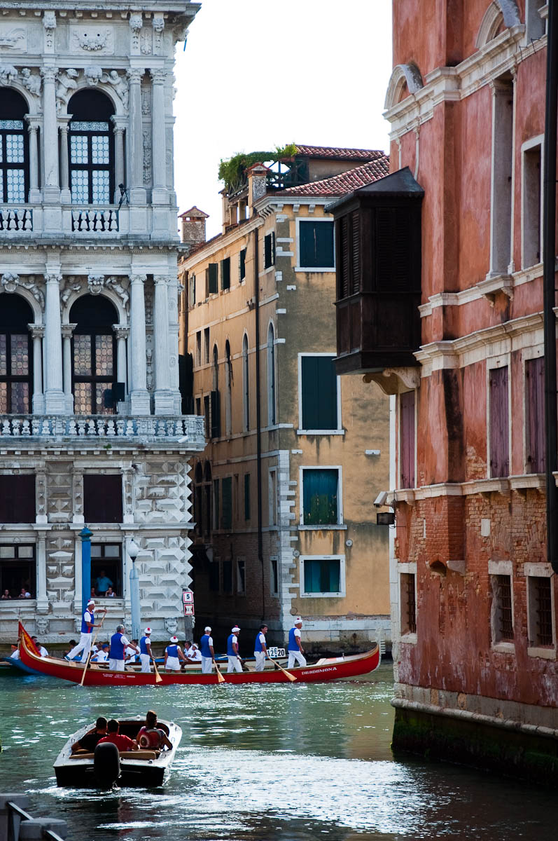 A boat taking part in the Historical Regatta, Venice, Italy - www.rossiwrites.com