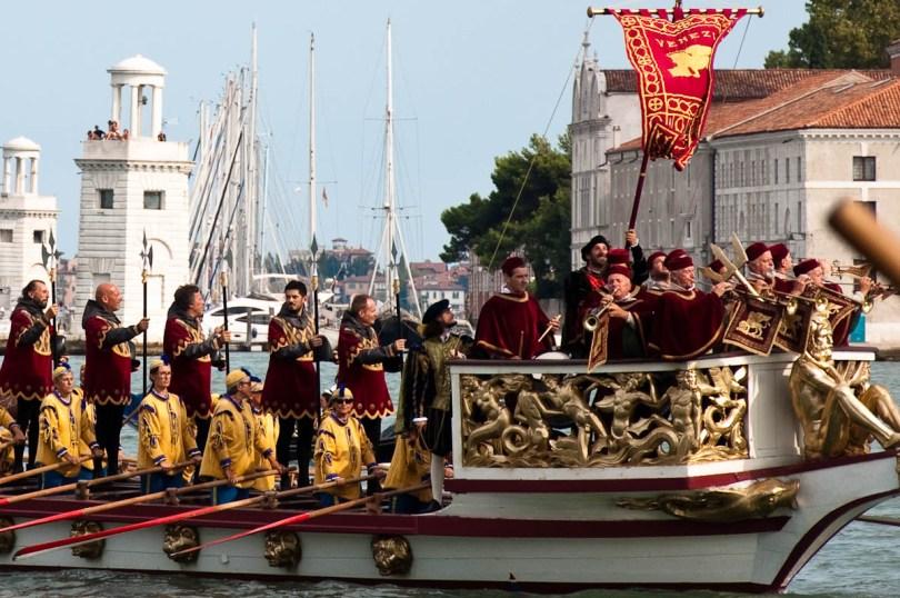 On board La Serenissima, Historical Regatta, Venice, Italy - www.rossiwrites.com
