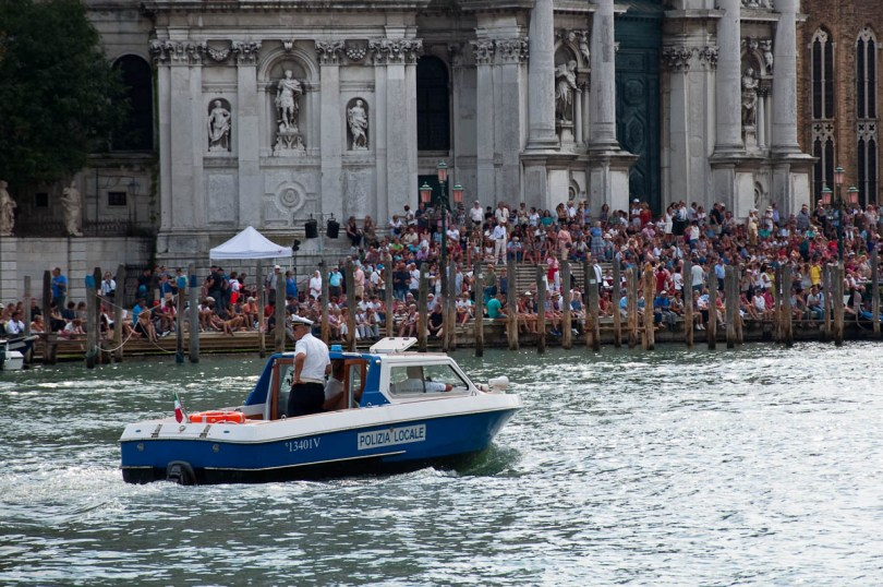 The Polizia Locale boat, Historical Regatta, Venice, Italy - www.rossiwrites.com