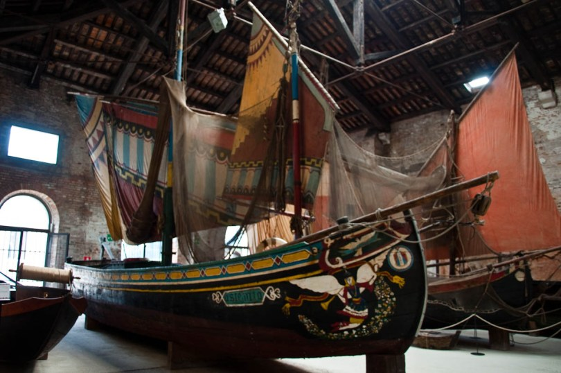 A colourful boat - Naval History Museum, Venice, Italy - www.rossiwrites.com