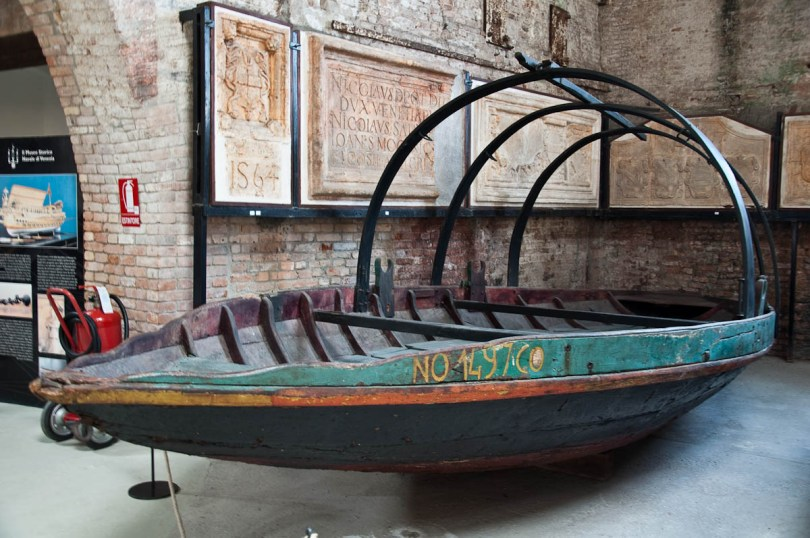 A fishersmen boat - Ships Pavilion, Venice, Italy - www.rossiwrites.com