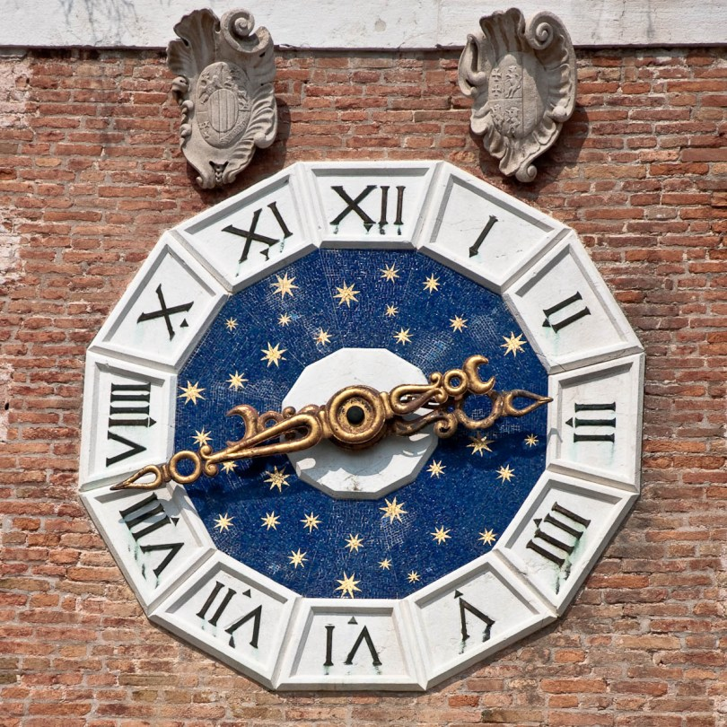 Arsenale's Porta Magna Tower Clock - Venice, Italy - www.rossiwrites.com