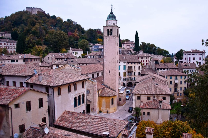 Asolo seen from the medieval castle - Asolo, Veneto, Italy - rossiwrites.com