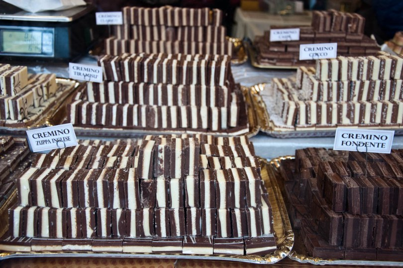 Different types of cremino from Turin - Chocolate Festival, Vicenza, Italy - www.rossiwrites.com