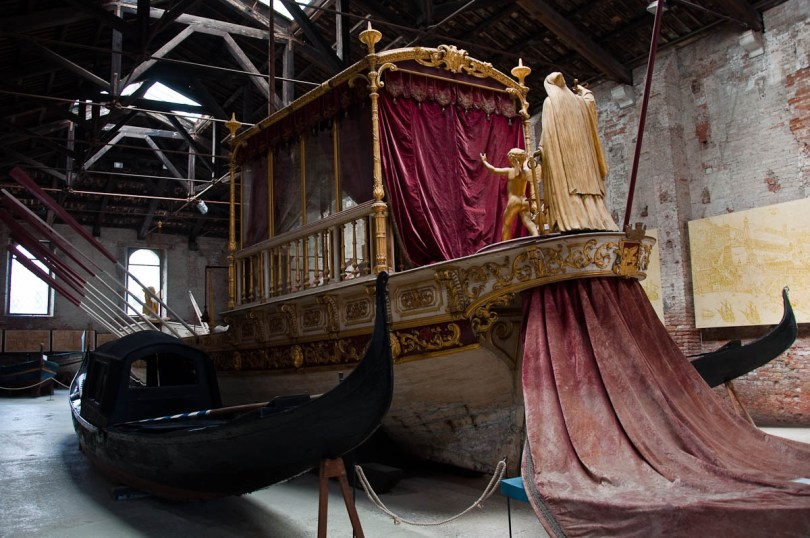 The Royal Barge with the Doge's gondolas - Ships Pavilion, Venice, Italy - www.rossiwrites.com