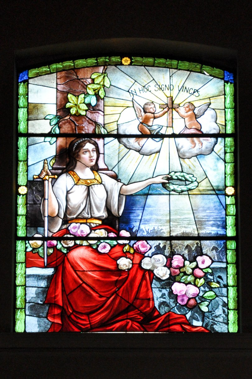 Stained glass panel, The Cathedral, Bardolino, Lake Garda, Italy - www.rossiwrites.com