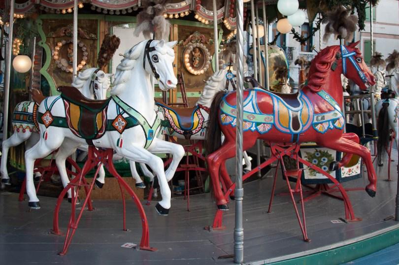 A 100-year old carousel - Bassano del Grappa, Veneto, Italy - www.rossiwrites.com
