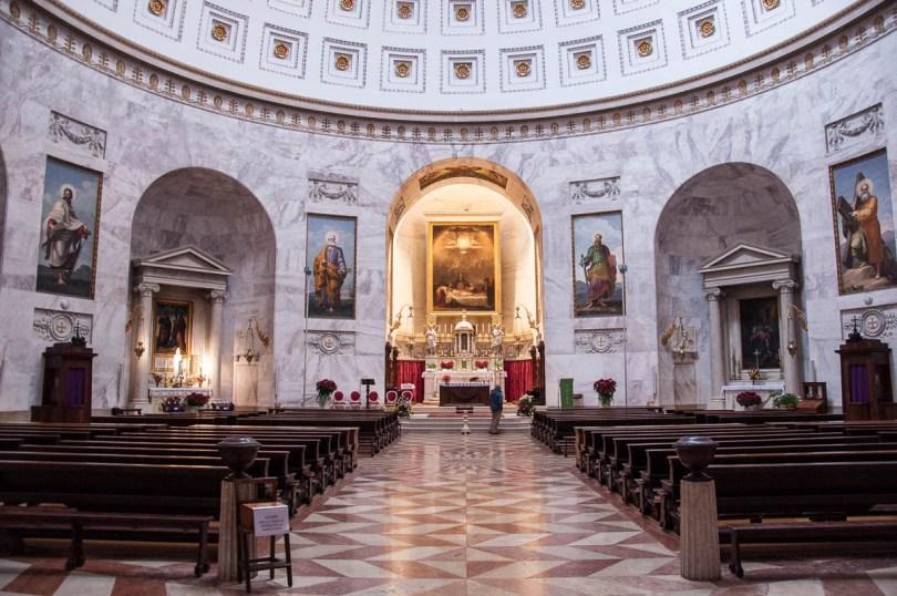 Inside the Tempio Canoviano or the Temple of Canova - Possagno, Treviso, Veneto, Italy - www.rossiwrites.com