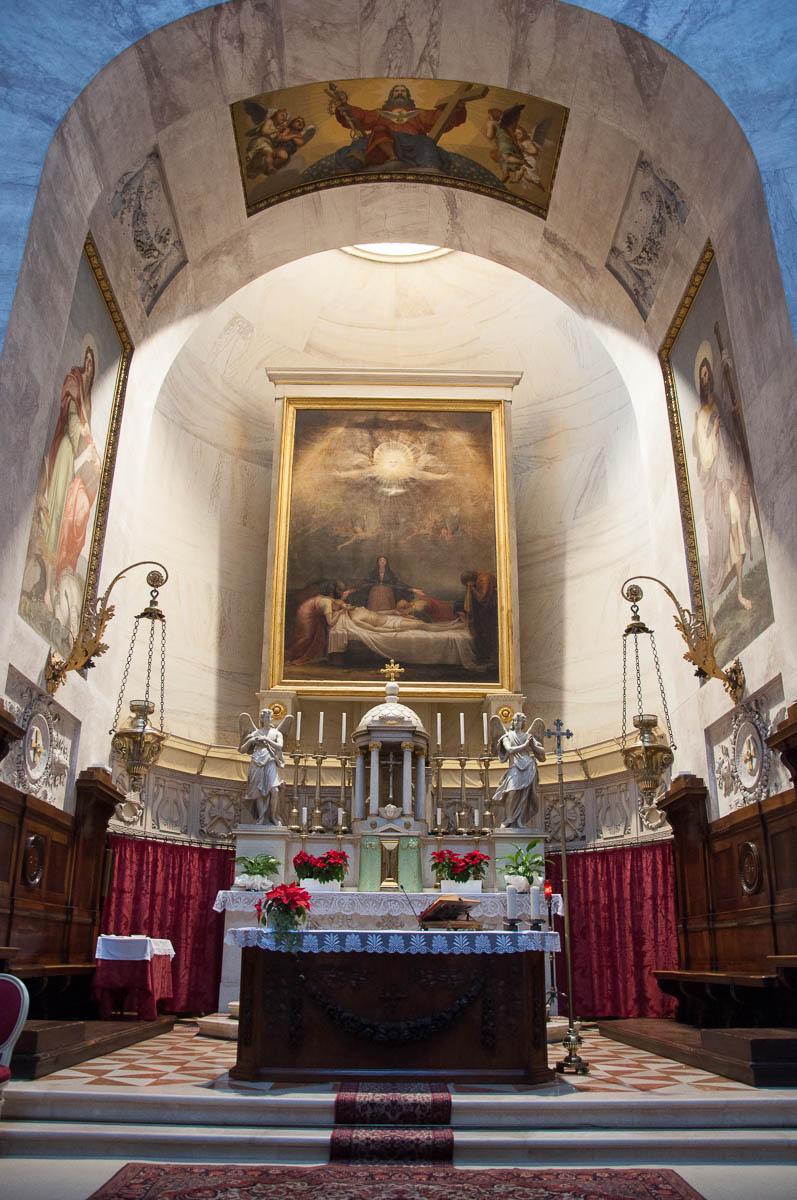 The altar inside the Tempio Canoviano or the Temple of Canova - Possagno, Treviso, Veneto, Italy - www.rossiwrites.com