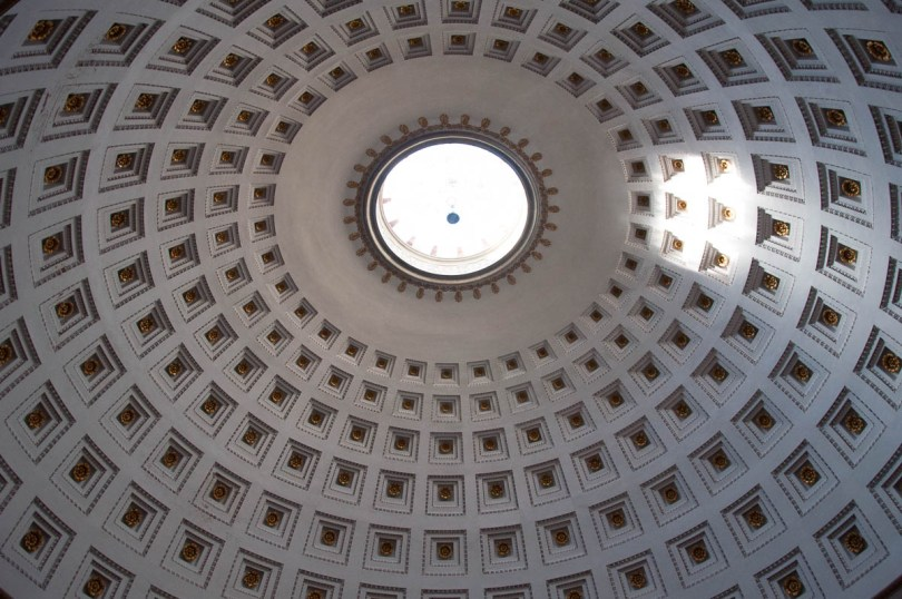 The ceiling of the Tempio Canoviano or the Temple of Canova - Possagno, Treviso, Veneto, Italy - www.rossiwrites.com