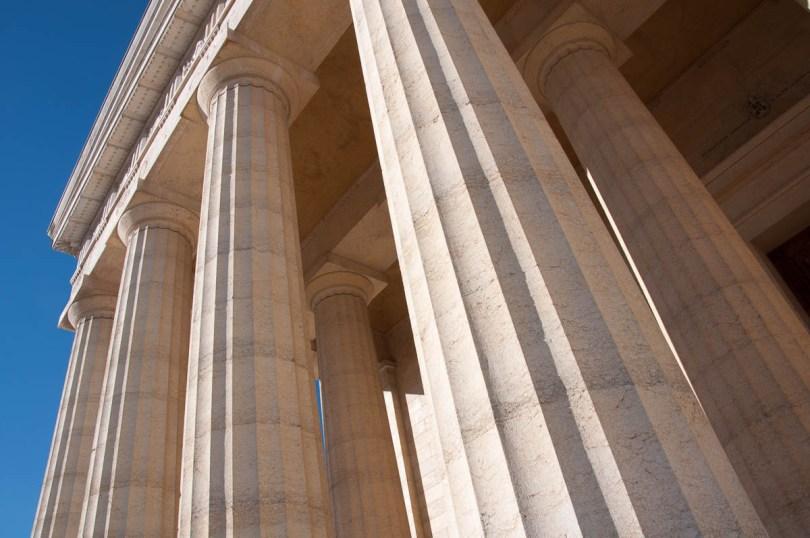 The columns of the Tempio Canoviano or the Temple of Canova - Possagno, Treviso, Veneto, Italy - www.rossiwrites.com
