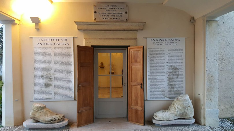 The entrance to the Gypsotheca - Antonio Canova's Museum - Possagno, Province of Treviso, Veneto, Italy - www.rossiwrites.com