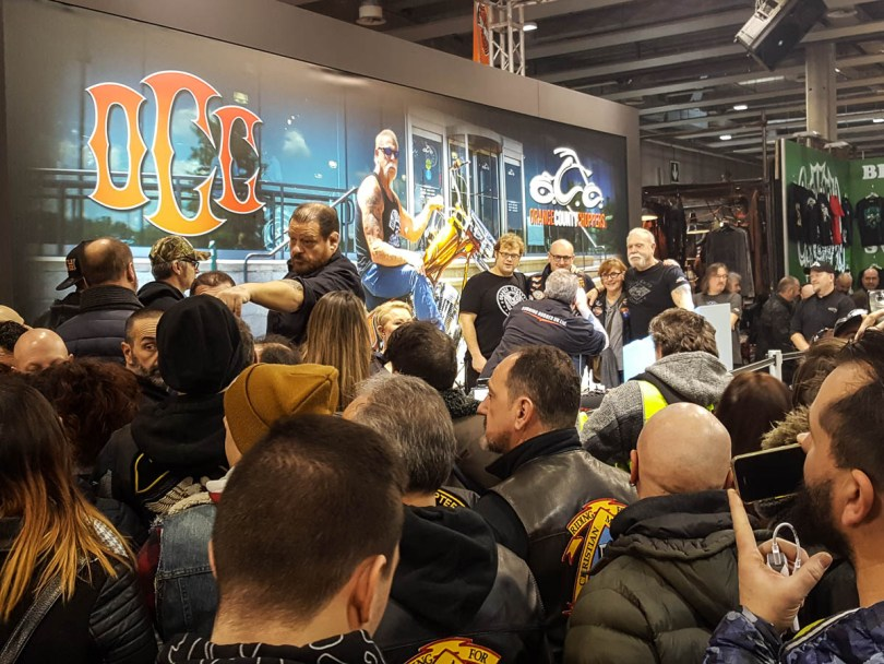 The meet and greet with Orange County Choppers - Verona Motor Bike Expo 2017, Italy - www.rossiwrites.com