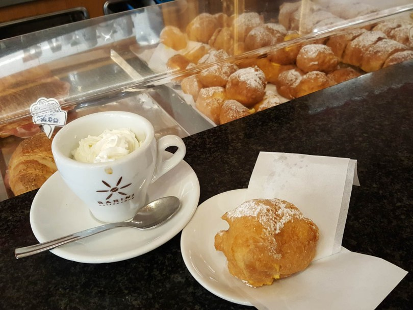 A frittella with coffee - Verona, Italy - www.rossiwrites.com