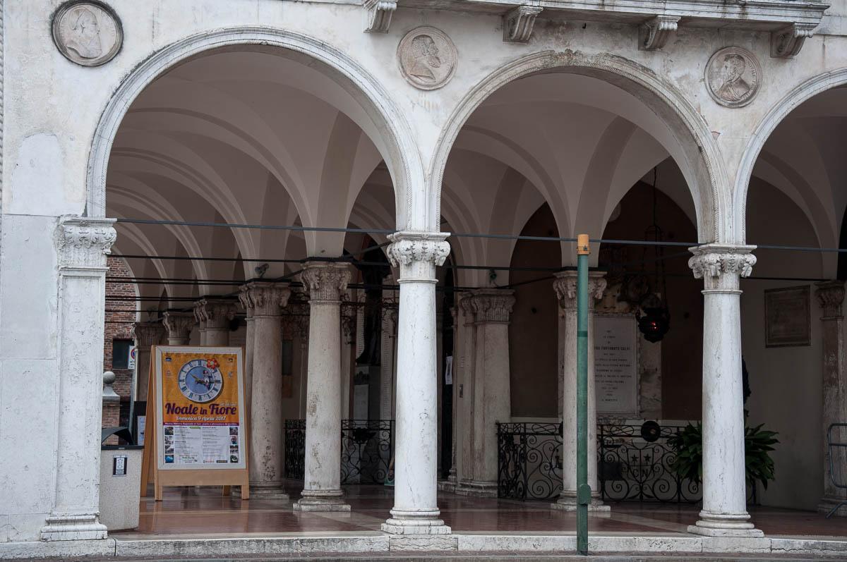 Fiori 2017 Veneto.A Close Up Of The 19 Th Century Palazzo Della Loggia Noale