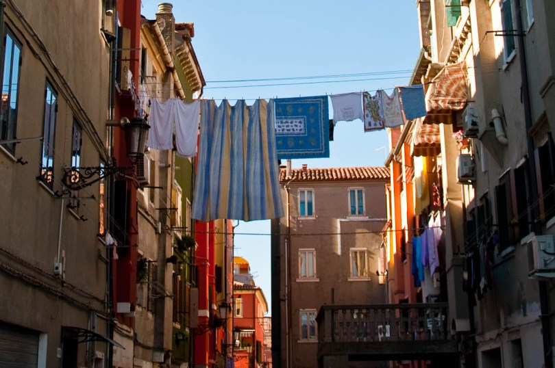 A clothes-line - Chioggia, Veneto, Italy - www.rossiwrites.com