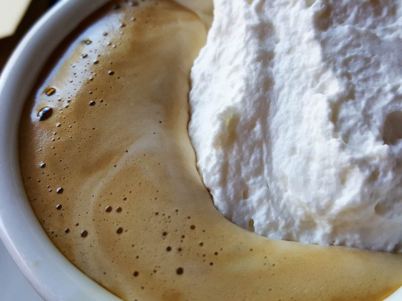 Coffee with whipped cream - Vicenza, Veneto, Italy - www.rossiwrites.com