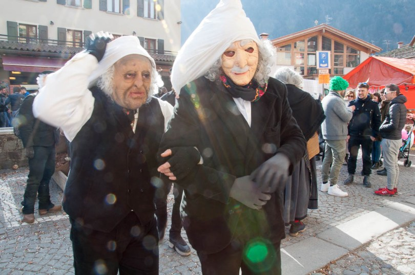 Men in costume with big padded heads - Bagolino, Lombardy, Italy - www.rossiwrites.com