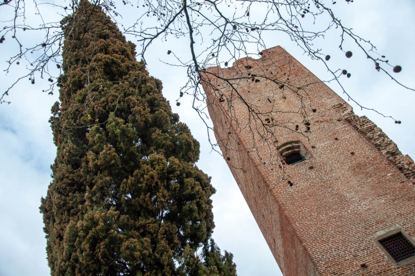 The tower of La Rocca - Noale, Veneto, Italy - www.rossiwrites.com