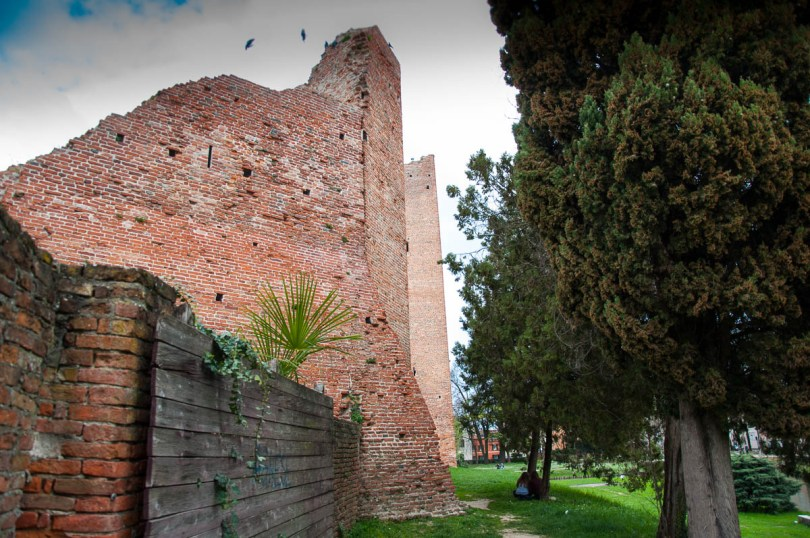 The walls of La Rocca - Noale, Veneto, Italy - www.rossiwrites.com