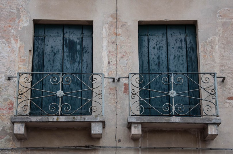 Tiny windows with wrought-iron - Noale, Veneto, Italy - www.rossiwrites.com