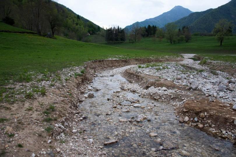 A fast running stream - Laghi, Veneto, Italy - www.rossiwrites.com