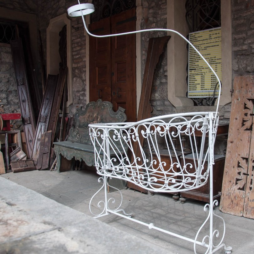 Old furniture in front of a refurbished house in Teolo - Euganean Hills, Veneto, Italy - www.rossiwrites.com
