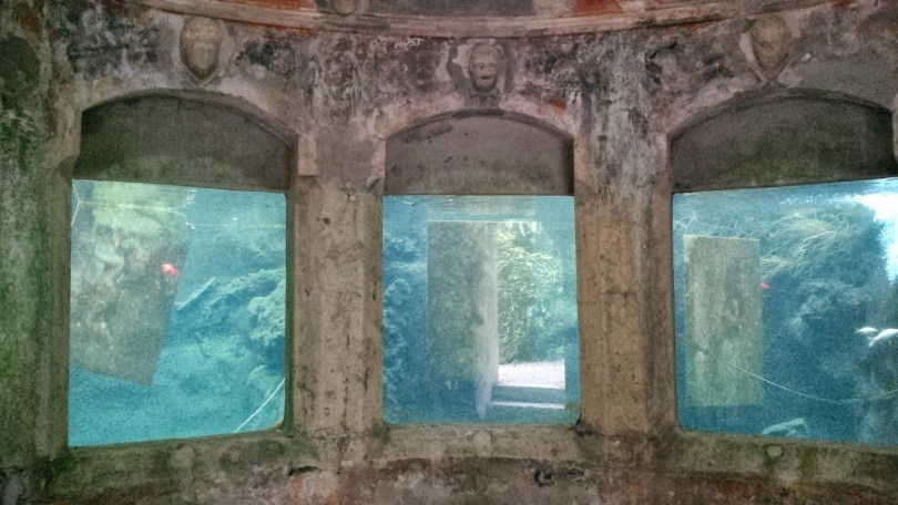 The aquarium in Villa Rossi's garden - Santorso, Veneto. Italy - www.rossiwrites.com