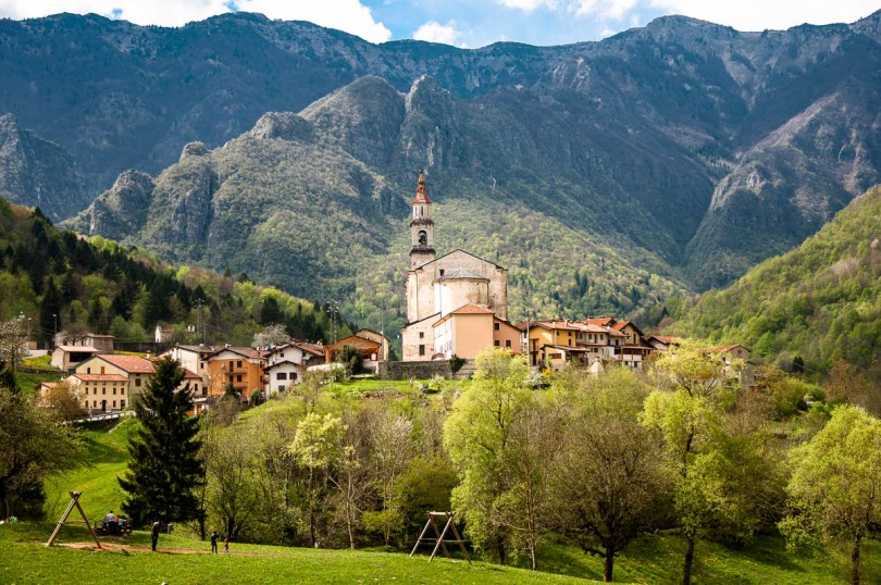 The village and the Pre-Alps - Laghi, Veneto, Italy - www.rossiwrites.com