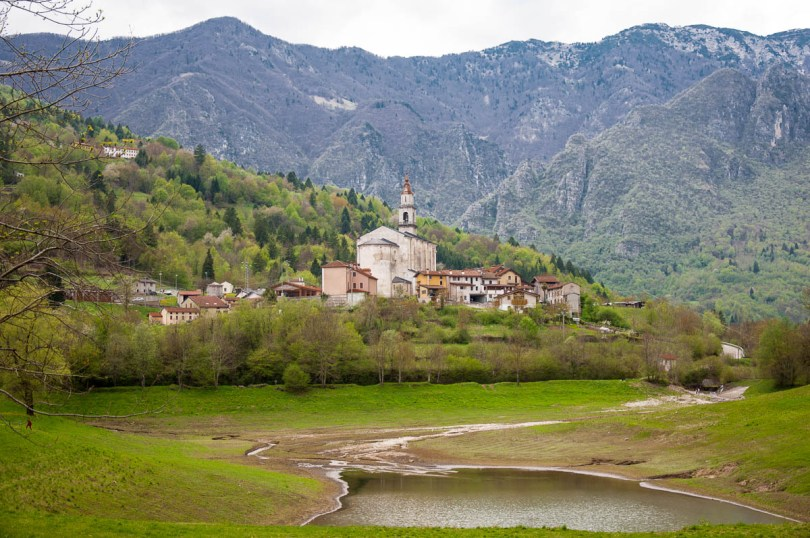 The village with the lake and the Pre-Alps - Laghi, Veneto, Italy - www.rossiwrites.com